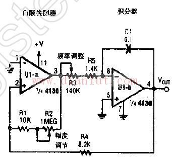 介绍: 下面是[三角波振荡器 ]的电路图  (:自然美)     本