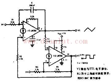 三角波和方波发生器电路图